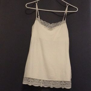Off-white lace camisole